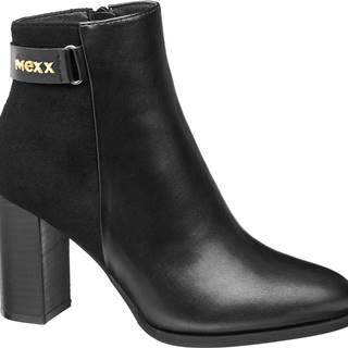 MEXX - Čierne členkové čižmy Mexx