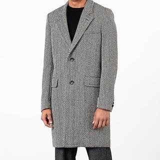 AMI Alexandre Mattiussi Coat White/ Black