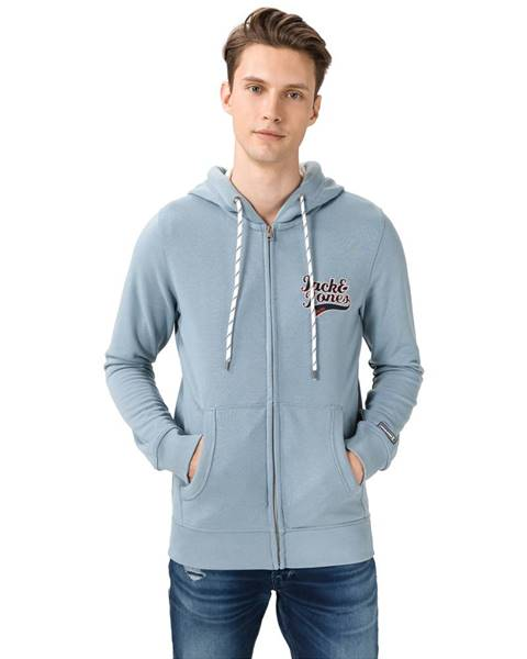 Modrá bunda s kapucňou Jack & Jones