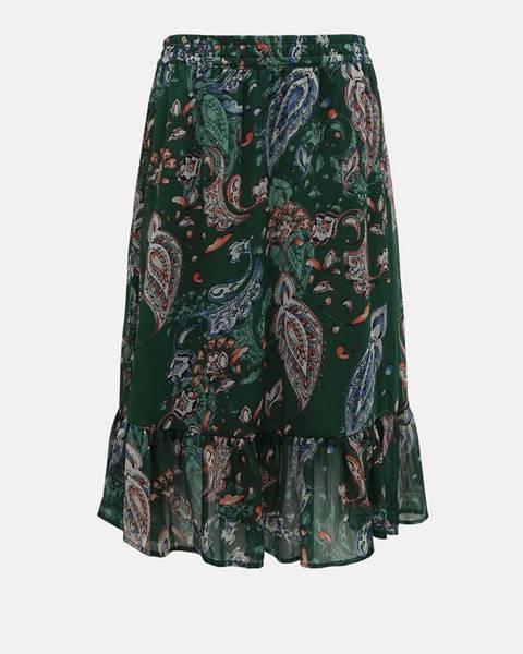 Tmavozelená sukňa Jacqueline de Yong