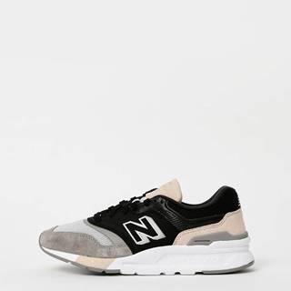 Šedo-čierne dámske semišové tenisky New Balance 997H