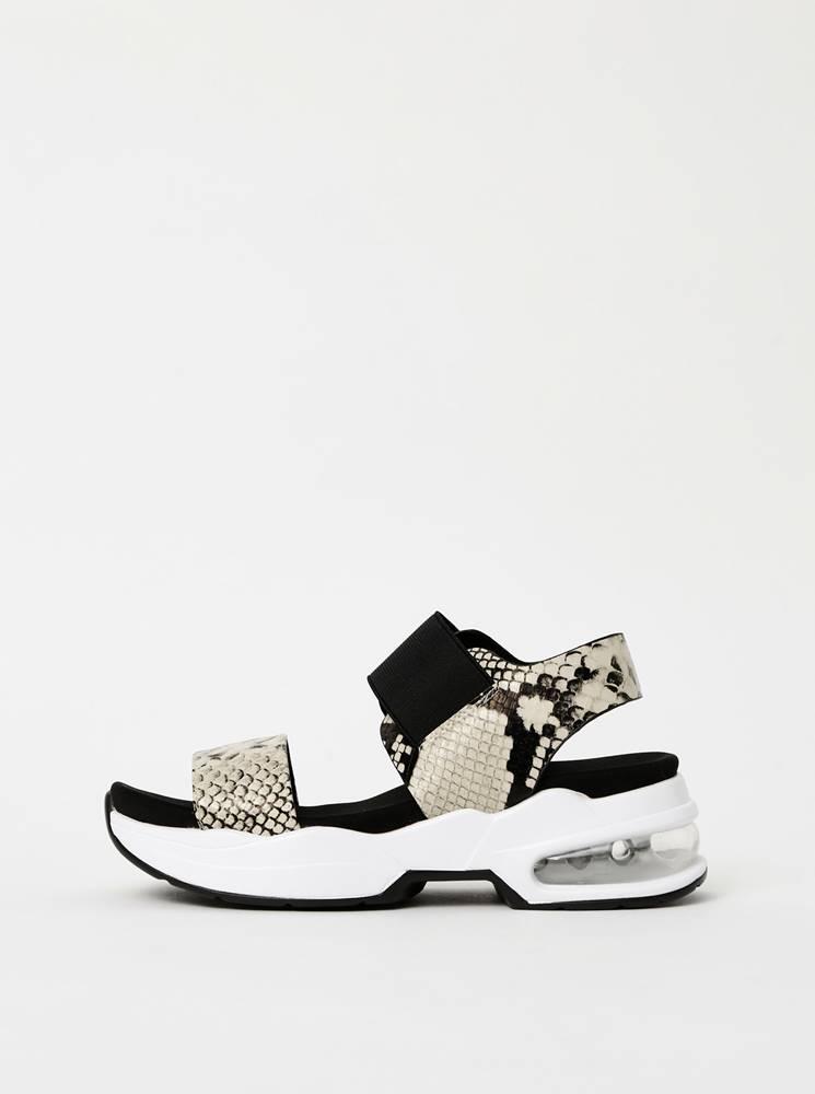 Xti Krémové dámske sandále s hadím vzorom Xti