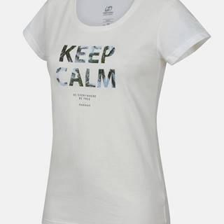 Biele dámske tričko s potlačou Hannah Talimana