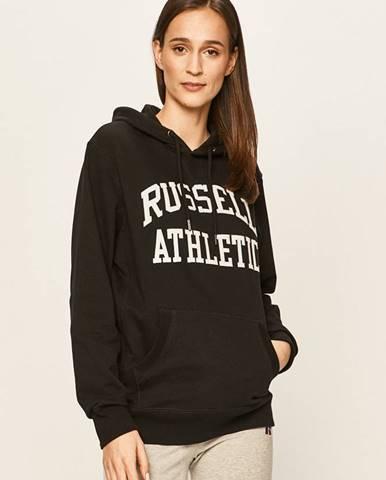Čierna mikina s kapucňou Russell Athletic