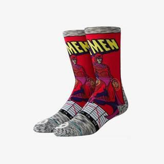 Stance Stance Magneto Comic Ponožky Červená Šedá