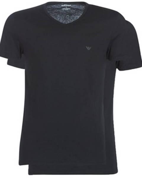 Čierne tričko Emporio Armani