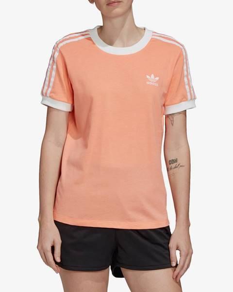 Oranžové tričko adidas Originals