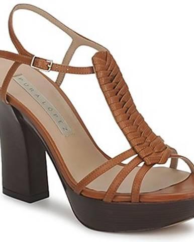 Hnedé sandále Pura Lopez