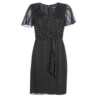 Krátke šaty Lauren Ralph Lauren  POLKA DOT-SHORT SLEEVE-DAY DRESS