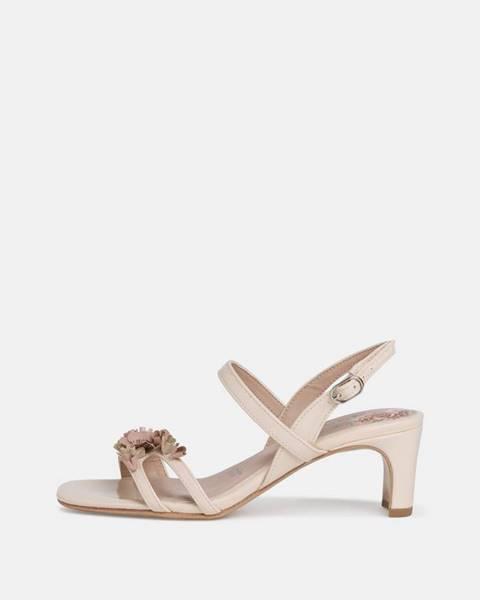 Krémové sandále Tamaris