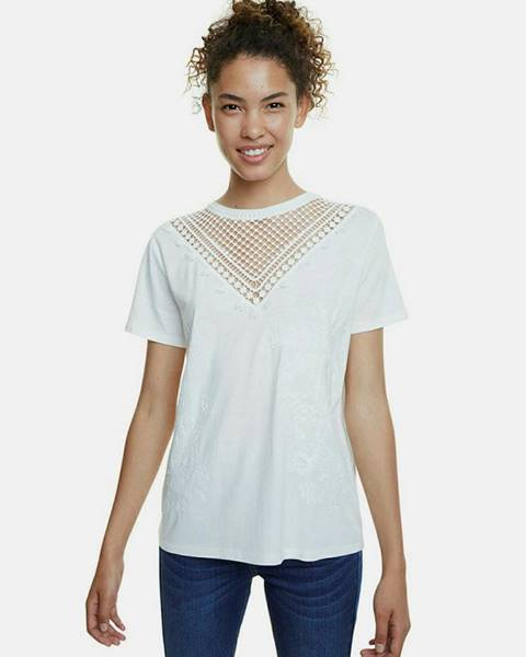 Biele tričko Desigual