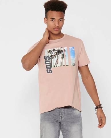 Ružové tričko ONLY & SONS