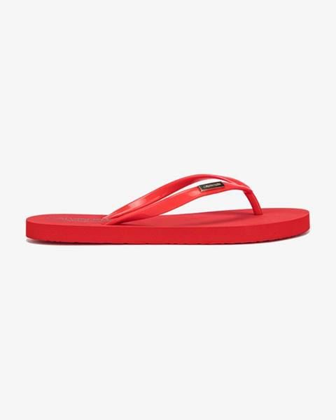 Červené sandále Calvin Klein