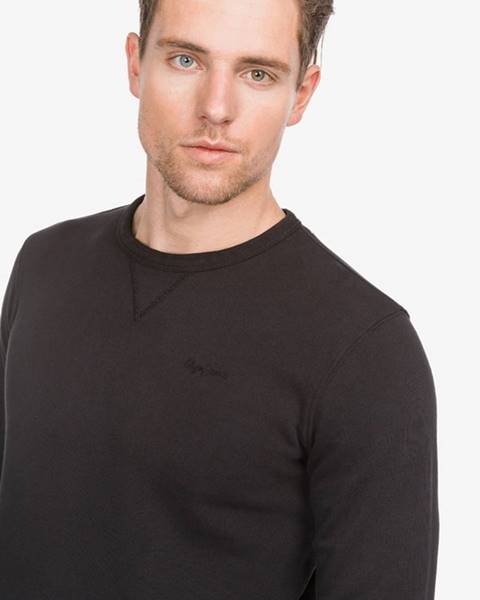 Čierna bunda bez kapucne Pepe jeans