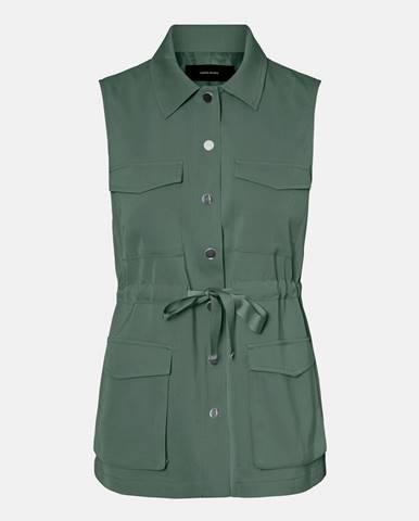 Zelená vesta Vero Moda