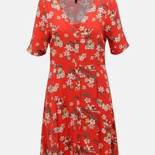 Červené kvetované šaty VERO MODA Simply