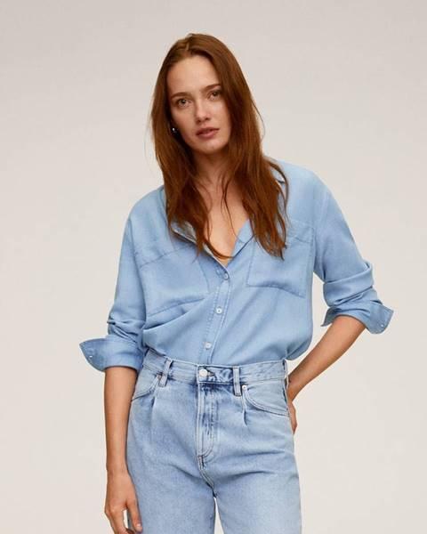 Modrá košeľa Mango
