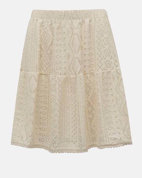 Krémová sukňa Vero Moda