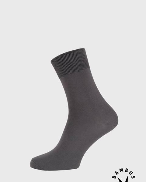 Tmavosivé ponožky Lonka