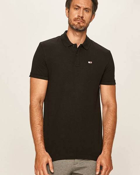 Čierne tričko Tommy Jeans