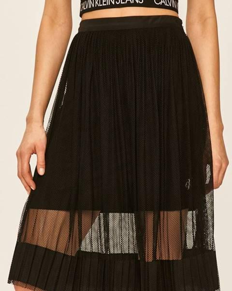 Čierna sukňa Calvin Klein Jeans