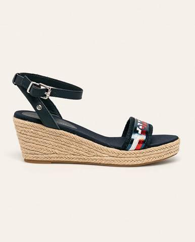 Tmavomodré sandále Tommy Hilfiger
