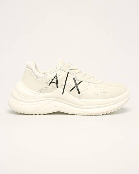 Biele topánky Armani Exchange
