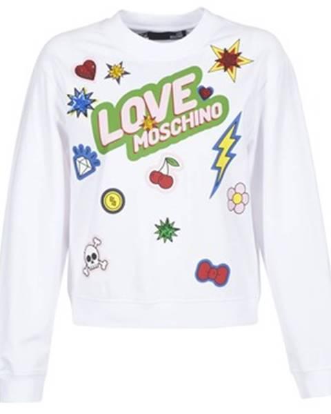 Biela mikina Love Moschino