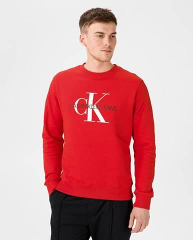 Červená bunda bez kapucne Calvin Klein