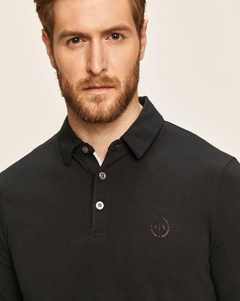 Tmavomodré tričko Armani Exchange
