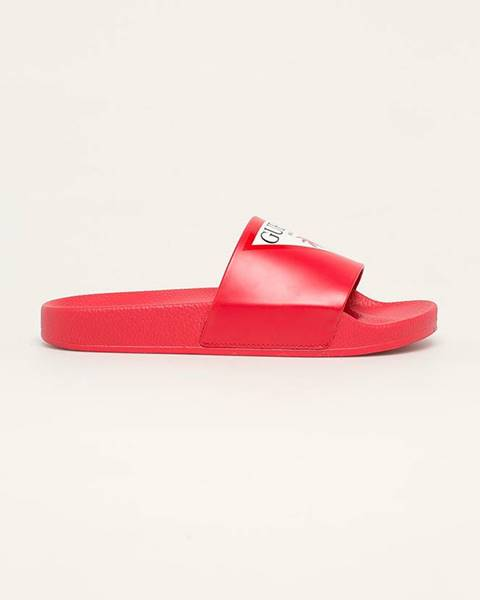 Červené sandále Guess Jeans