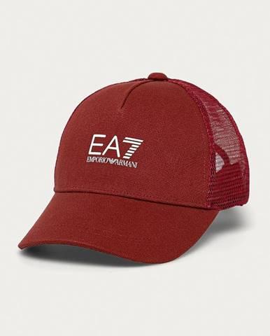 Červená čiapka EA7 Emporio Armani