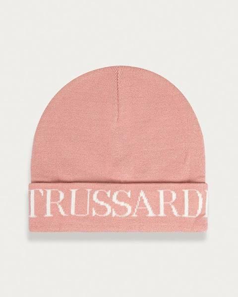 Ružová čiapka Trussardi Jeans