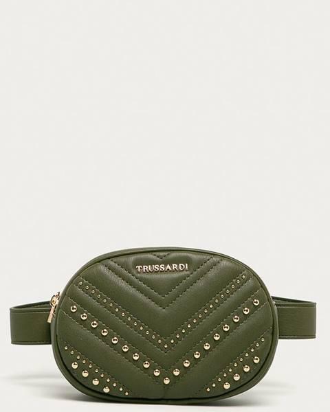 Zelená kabelka Trussardi Jeans