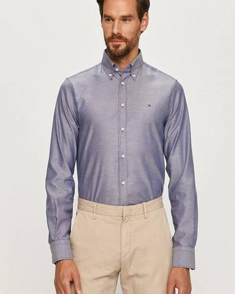 Tmavomodrá košeľa Tommy Hilfiger Tailored