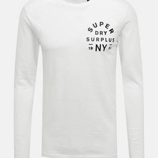Biele pánske tričko s pásom Superdry