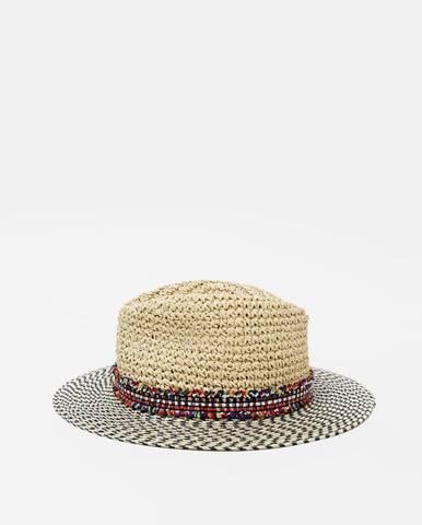 Béžový klobúk Pieces