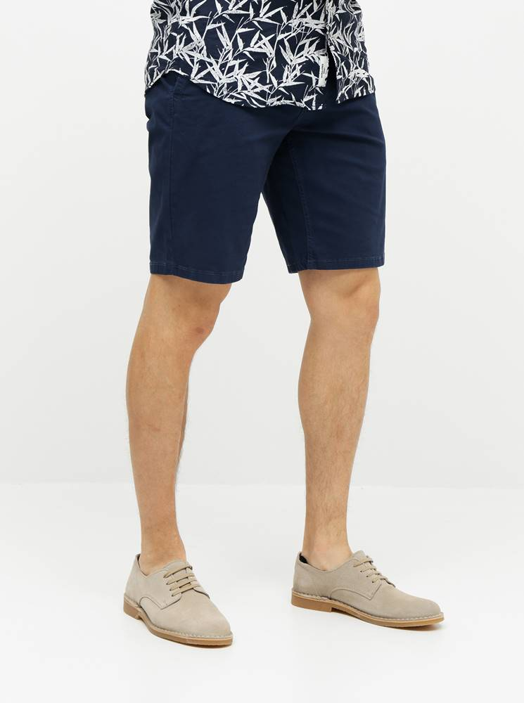ONLY & SONS Tmavomodré chino kraťasy ONLY & SONS Holm