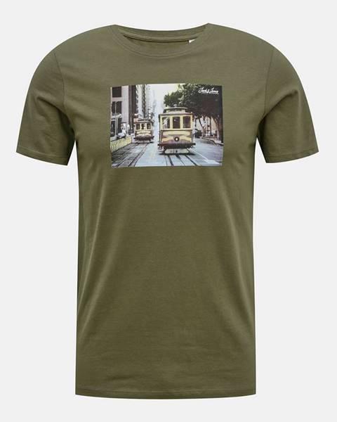 Kaki tričko Jack & Jones