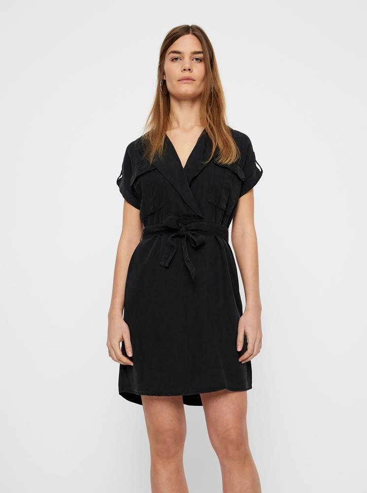Noisy May Čierne košeľové šaty Noisy May Vera